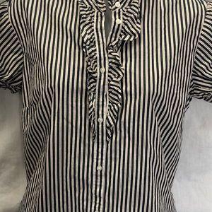 Gap, NWOT,  short sleeve ruffle blouse.  Size Med.